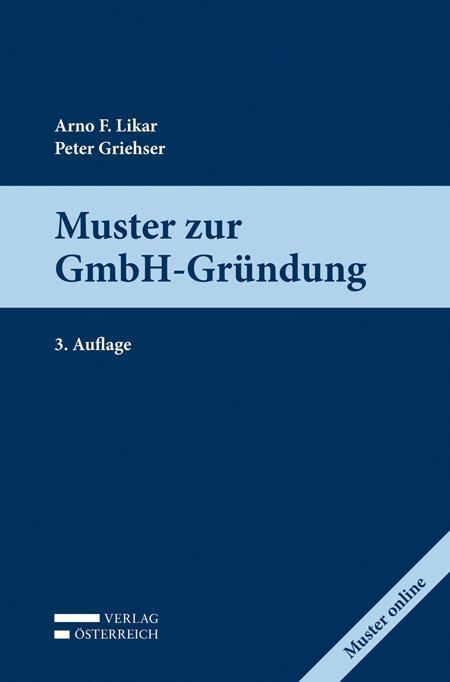 Muster zur GmbH-Gründung als Buch von Peter Gri...