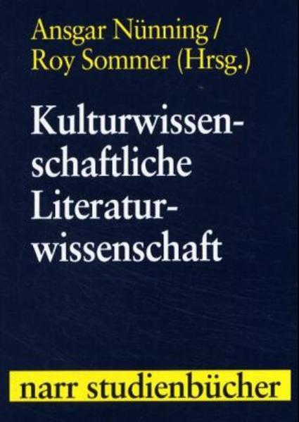 Kulturwissenschaftliche Literaturwissenschaft als Buch