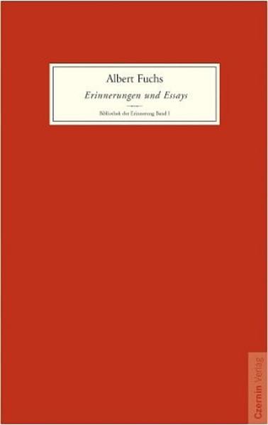 Erinnerungen und Essays als Buch