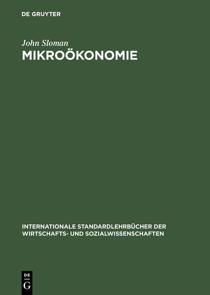 Mikroökonomie als eBook Download von John Sloman