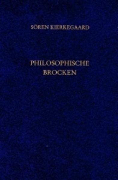 Philosophische Brocken. Gesammelte Werke und Tagebücher. 10. Abt. Bd. 6 als Buch