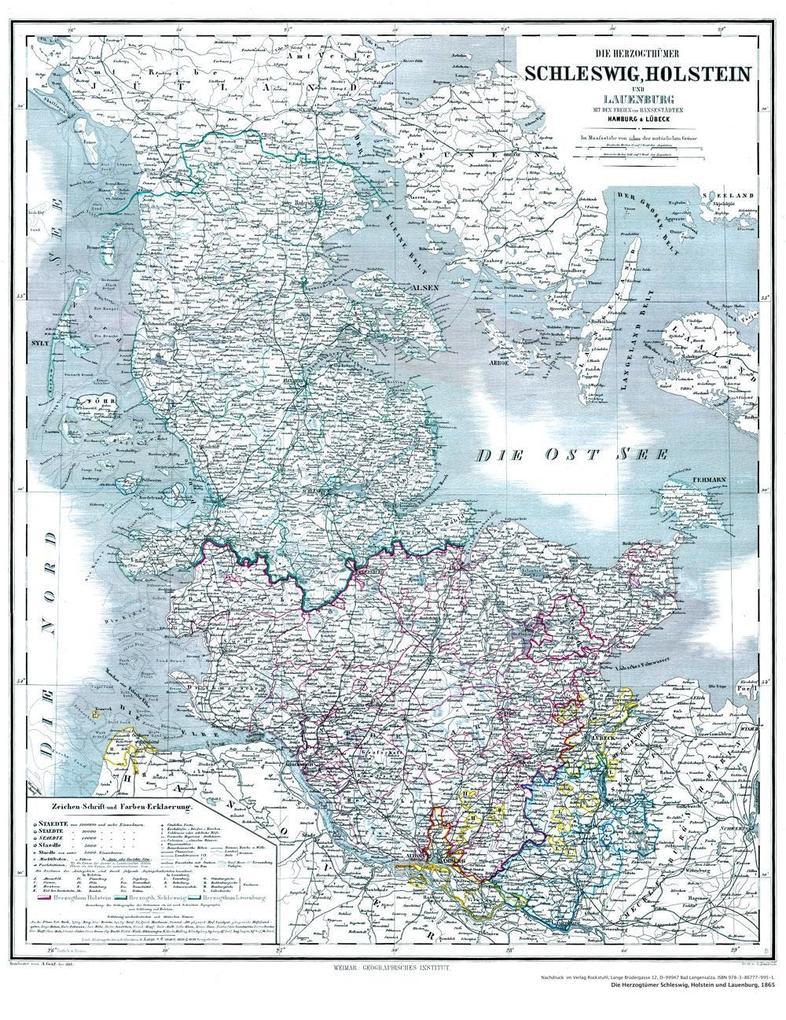 Schleswig Holstein Karte.Historische Karte Herzogtümer Schleswig Holstein Und Lauenburg 1865 Plano