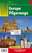 Europa Pilgerwege, Wanderkarte 1:2.000.000 - 1:3.500.000