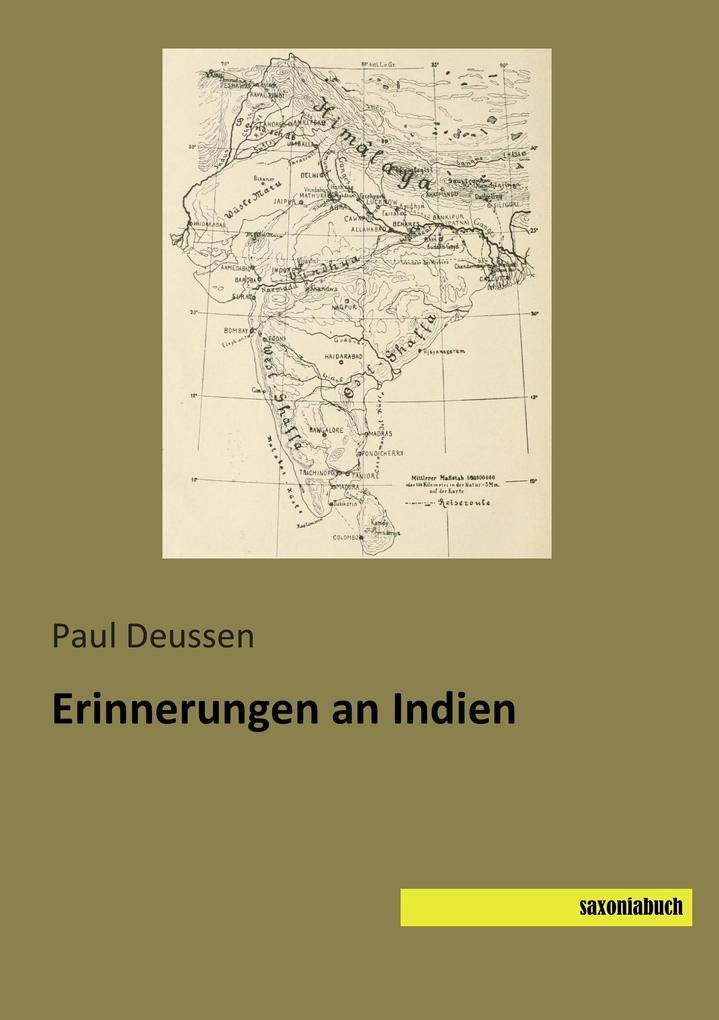 Erinnerungen an Indien als Buch von Paul Deussen