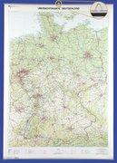 Deutschland 1 : 750 000. Wandkarte mit Aufhänger und Bestäbung