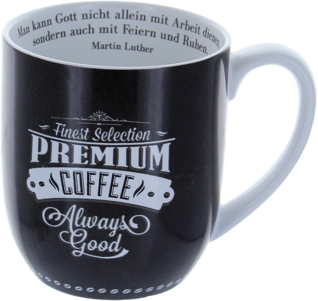 Die Tasse mit Inhalt Man kann Gott nicht allein...