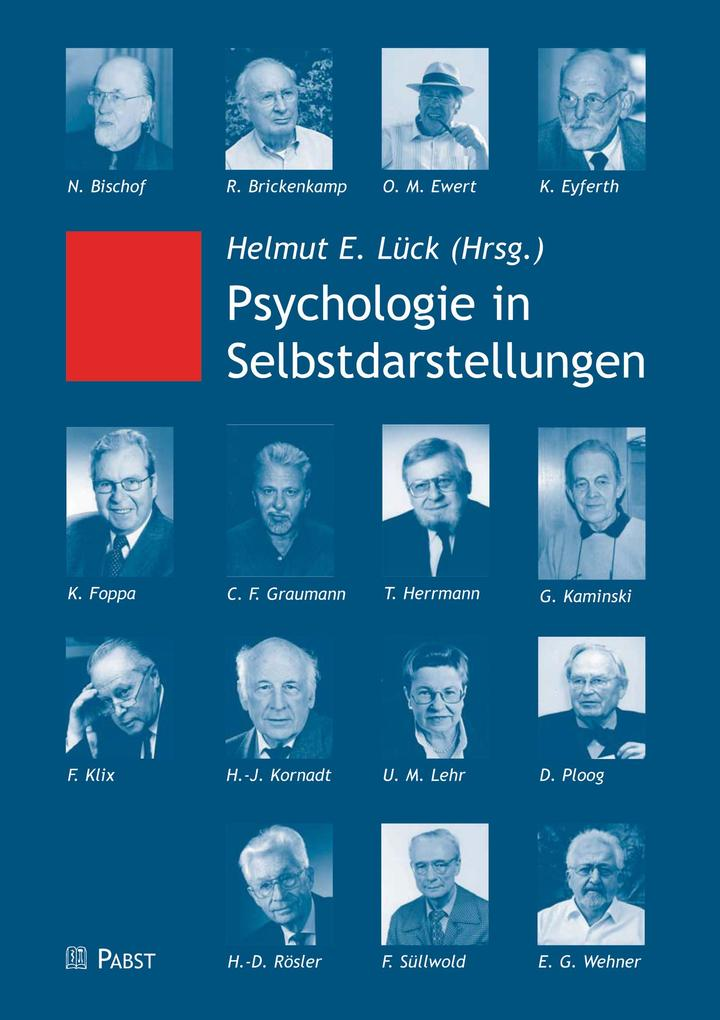 Psychologie in Selbstdarstellungen als eBook Do...