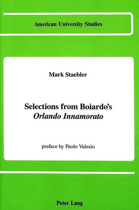 Selections from Boiardo´s Orlando Innamorato al...