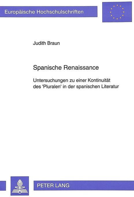 Spanische Renaissance als Buch von Judith Braun