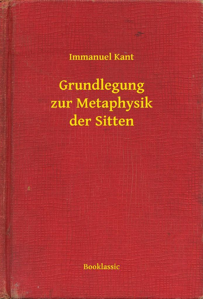 9789635263394 - Immanuel Kant: Grundlegung zur Metaphysik der Sitten als eBook Download von Immanuel Kant - Könyv