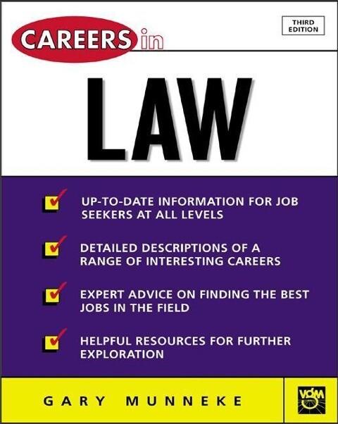 Careers in Law als Taschenbuch