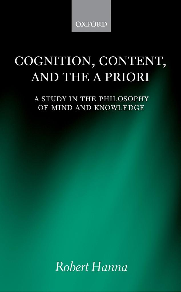 Cognition, Content, and the A Priori als eBook ...