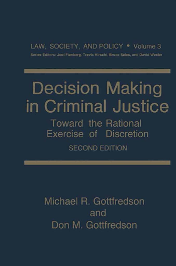 Decision Making in Criminal Justice als eBook D...