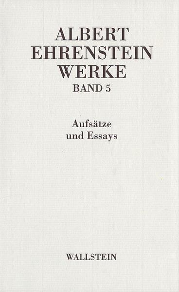 Werke 5. Essays und Aufsätze als Buch