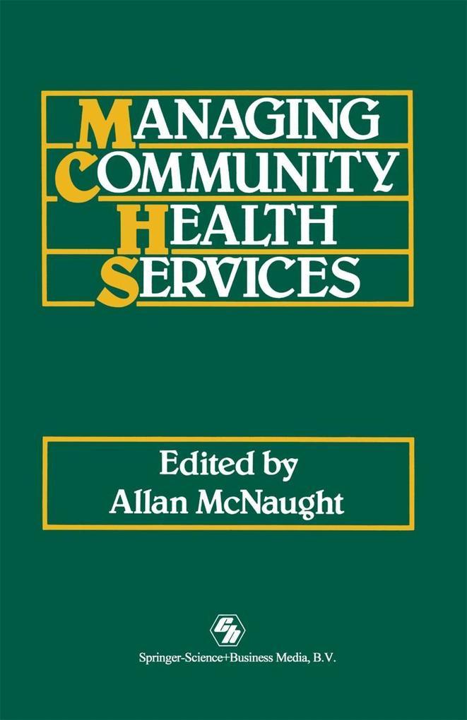 Managing Community Health Services als eBook Do...