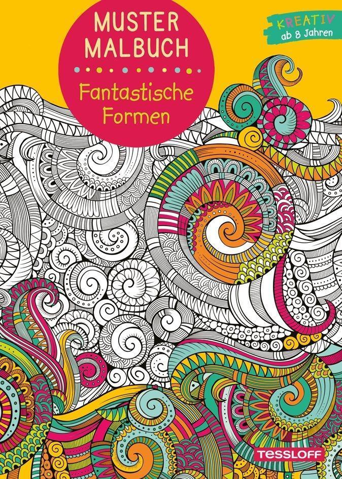 Muster Malbuch Fantastische Formen als Buch von...