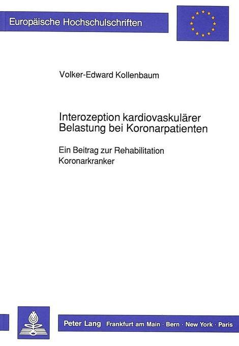 Interozeption kardiovaskulärer Belastung bei Ko...