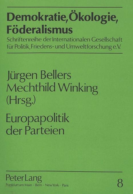 Europapolitik der Parteien als Buch von