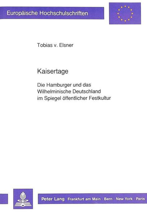 Kaisertage als Buch von Tobias v. Elsner