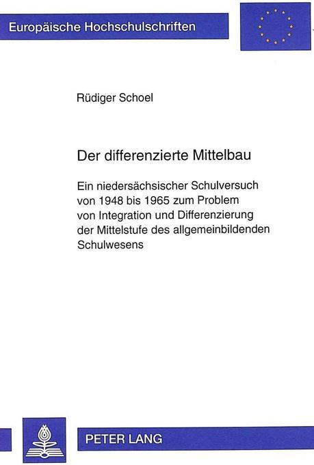 Der differenzierte Mittelbau als Buch von Rüdig...