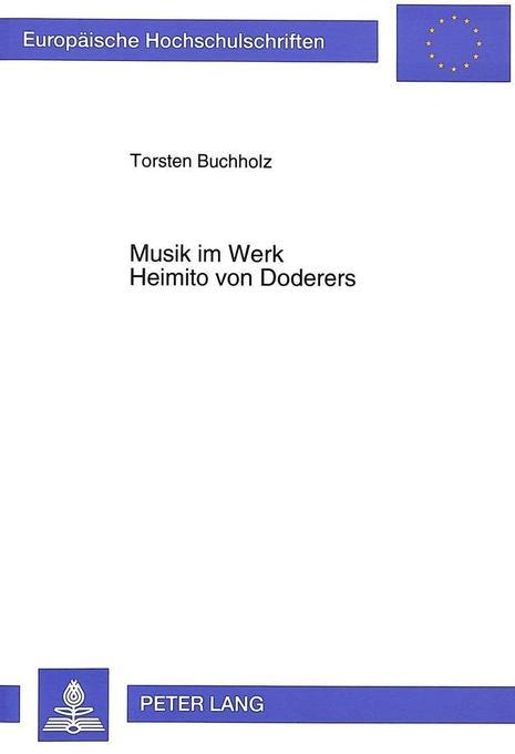 Musik im Werk Heimito von Doderers als Buch von...