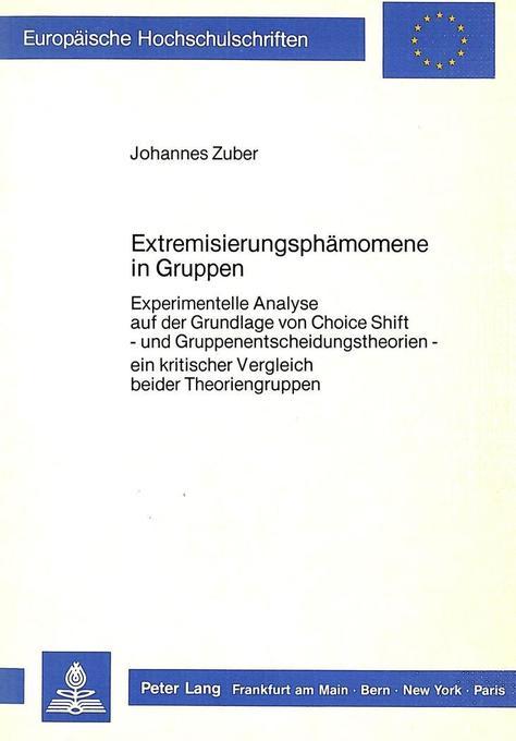 Extremisierungsphänomene in Gruppen als Buch vo...