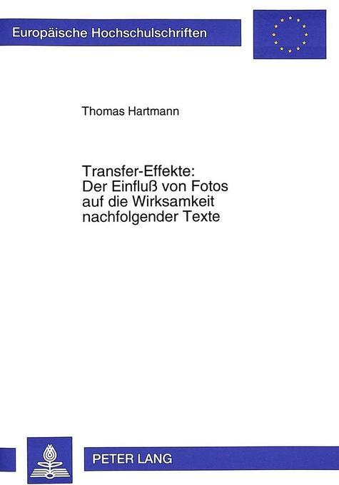 Transfer-Effekte: Der Einfluß von Fotos auf die...