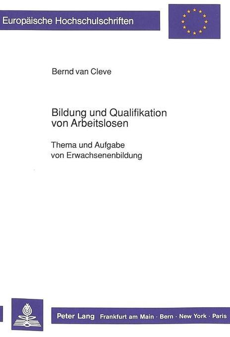 Bildung und Qualifikation von Arbeitslosen als ...