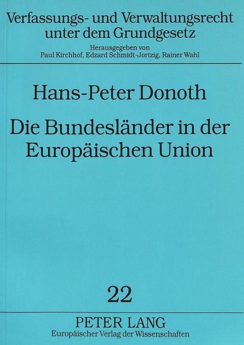 Die Bundesländer in der Europäischen Union als ...