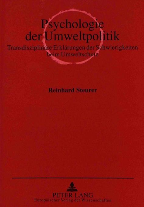 Psychologie der Umweltpolitik als Buch von Rein...
