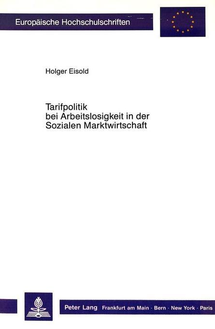 Tarifpolitik bei Arbeitslosigkeit in der Sozial...