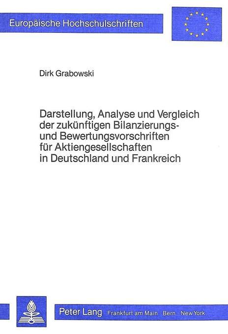 Darstellung, Analyse und Vergleich der zukünfti...