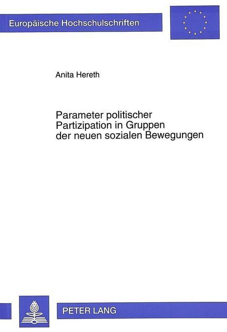 Parameter politischer Partizipation in Gruppen ...