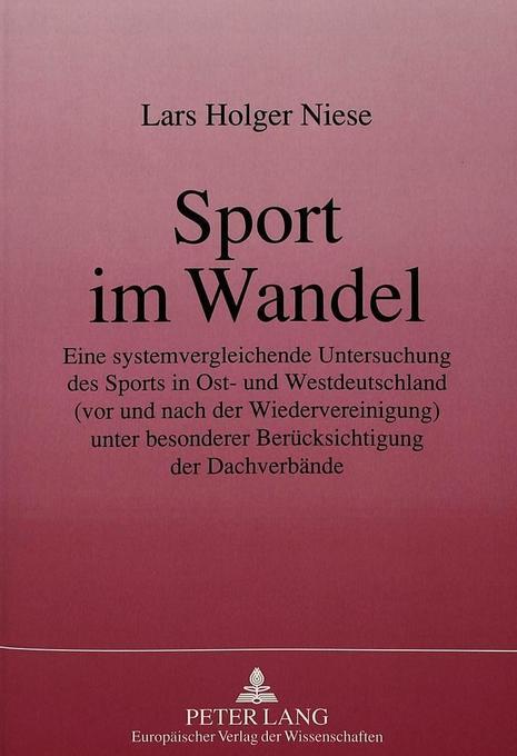 Sport im Wandel als Buch von Lars Holger Niese