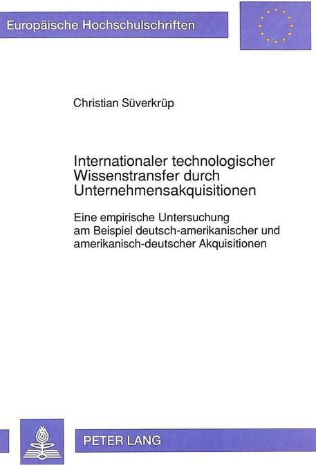Internationaler technologischer Wissenstransfer...