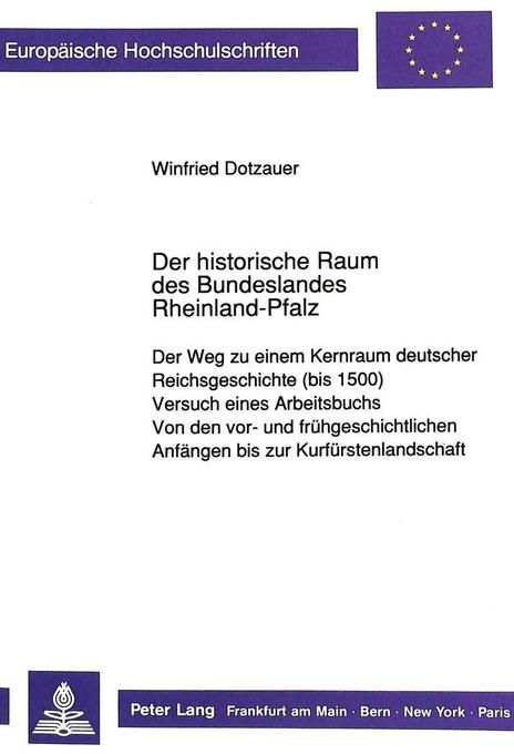 Der historische Raum des Bundeslandes Rheinland...