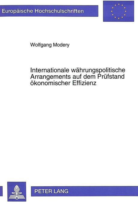 Internationale währungspolitische Arrangements ...