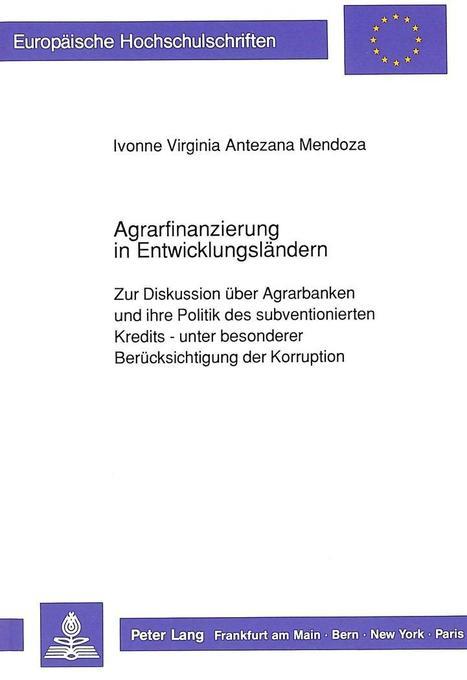 Agrarfinanzierung in Entwicklungsländern als Bu...