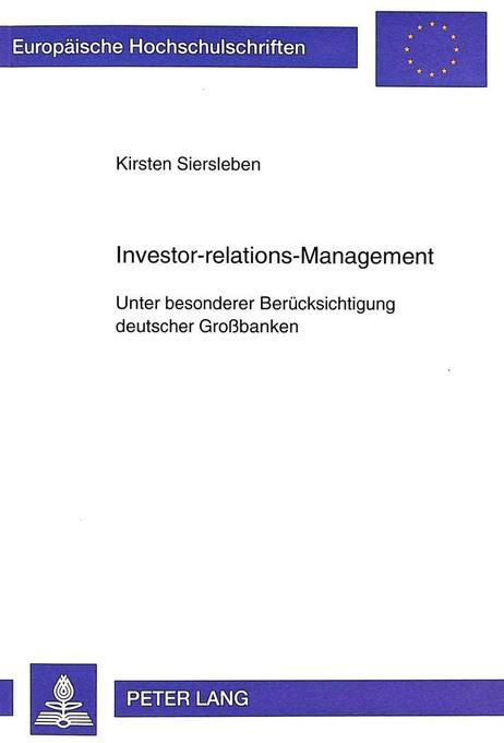Investor-relations-Management als Buch von Kirs...