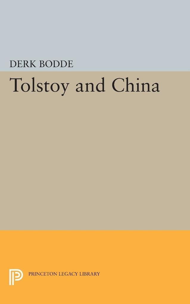 Tolstoy and China als eBook Download von Derk B...