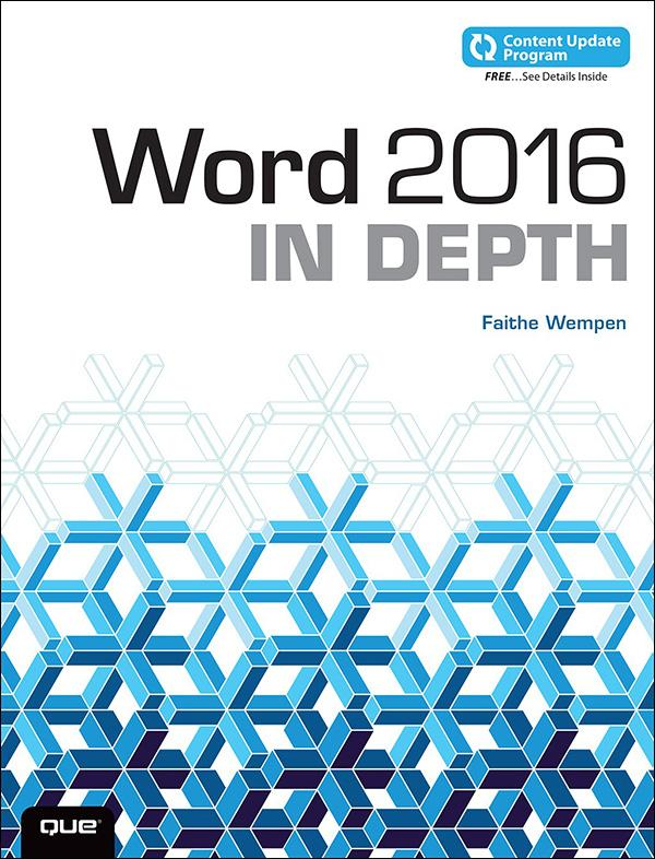 Word 2016 In Depth (includes Content Update Pro...