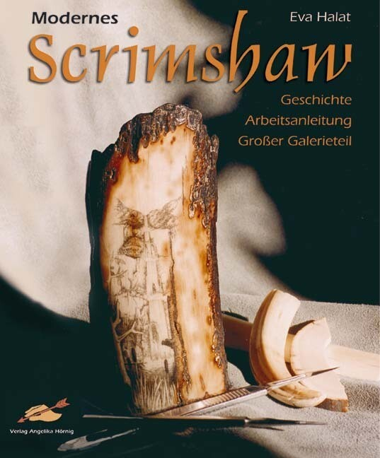 Modernes Scrimshaw als Buch