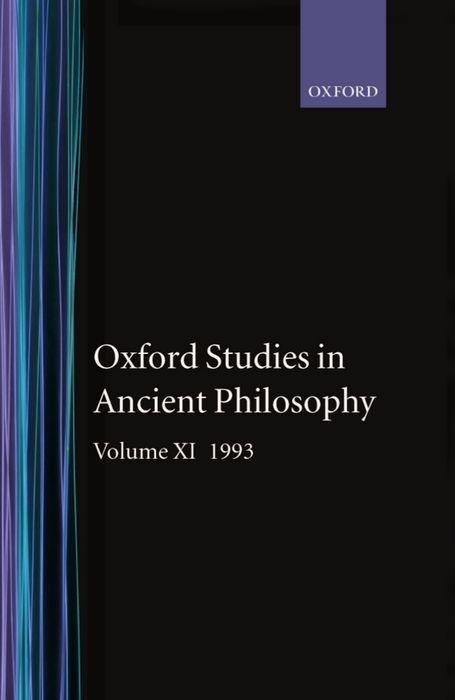 Oxford Studies in Ancient Philosophy: Volume XI: 1993 als Buch