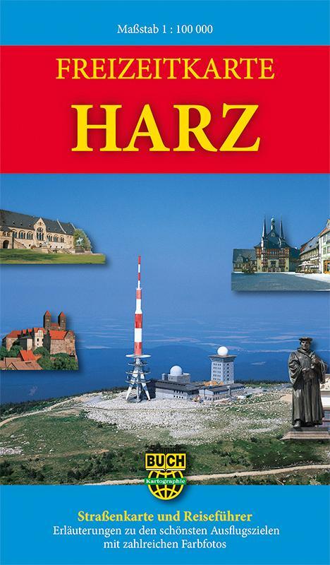 Freizeitkarte Harz 1: 100 000 als Buch von Bern...