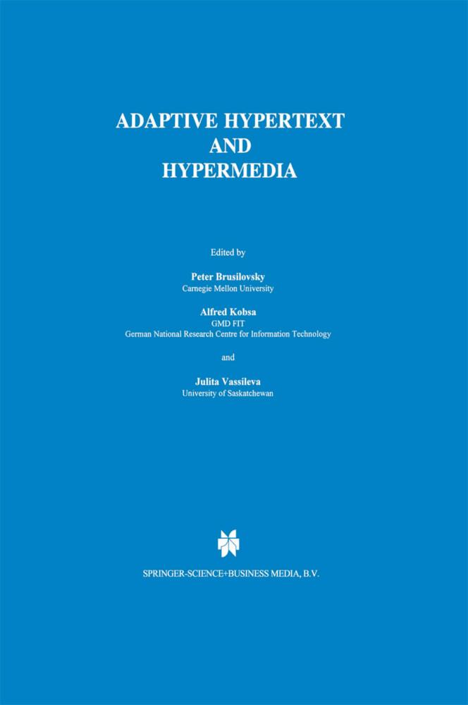 Adaptive Hypertext and Hypermedia als Buch