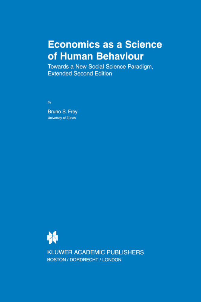 Economics as a Science of Human Behaviour als Buch (gebunden)