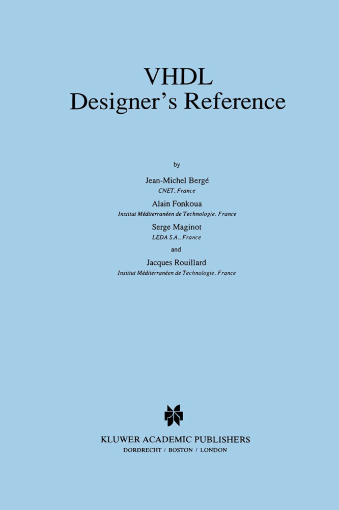 VHDL Designer's Reference als Buch