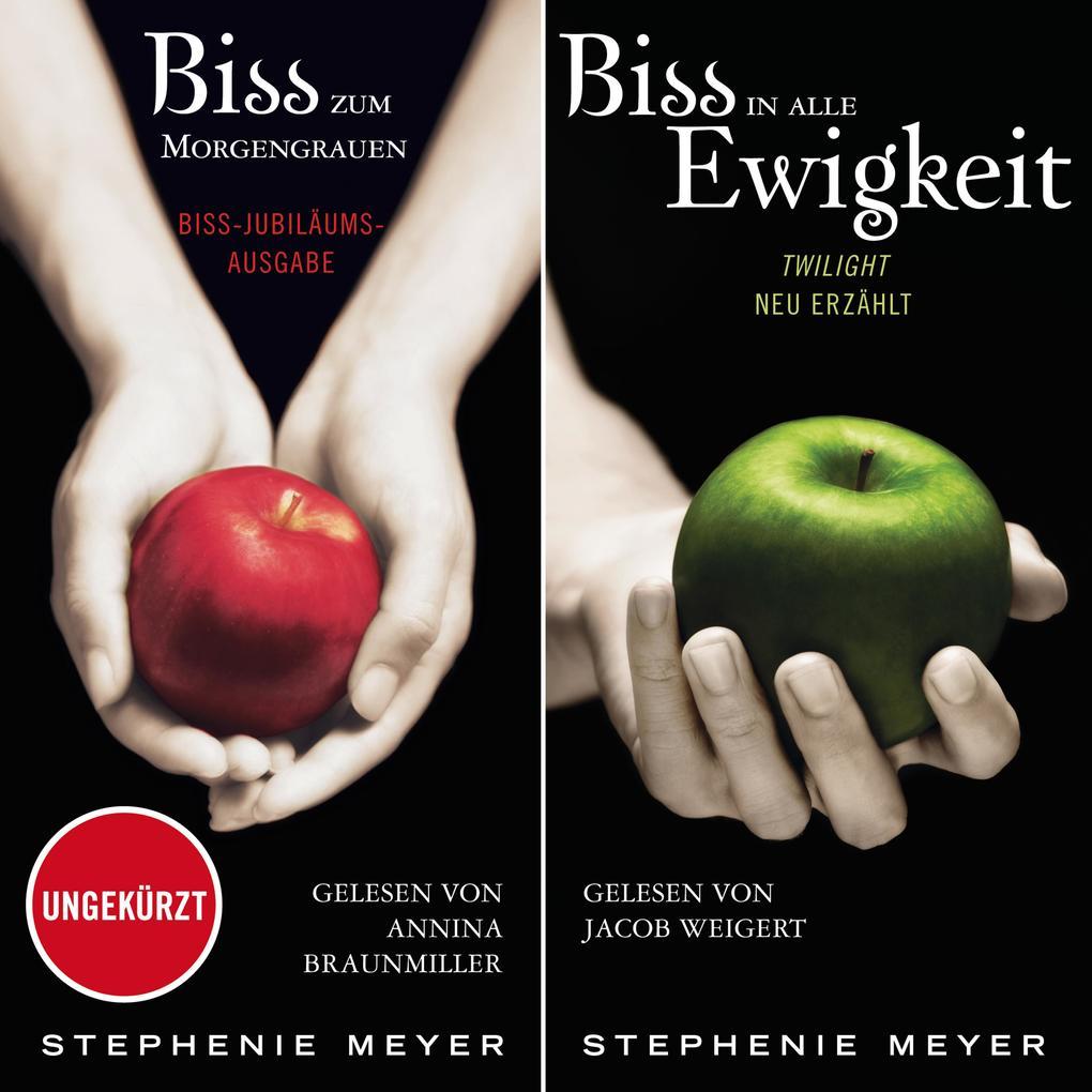 Biss-Jubiläumsausgabe - Biss zum Morgengrauen / Biss in alle Ewigkeit als Hörbuch Download