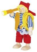 Goki 51617 - Biegepuppe Pirat aus Holz