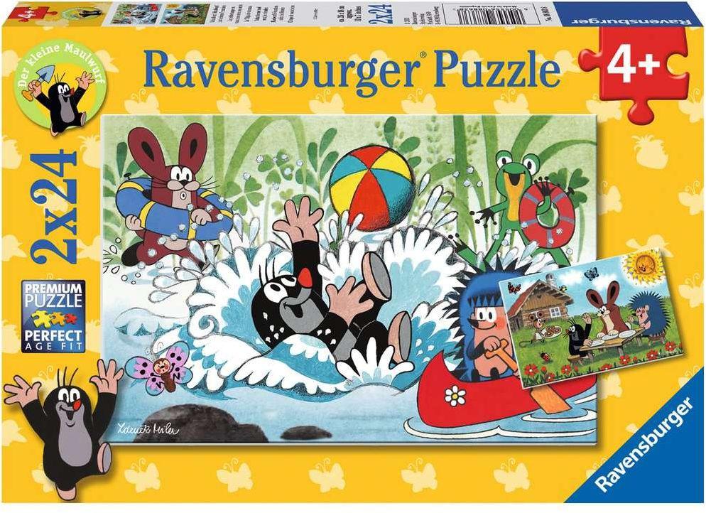 Ravensburger Spiel - Urlaub mit Maulwurf und seinen Freunden, 2x24 Teile als Spielware